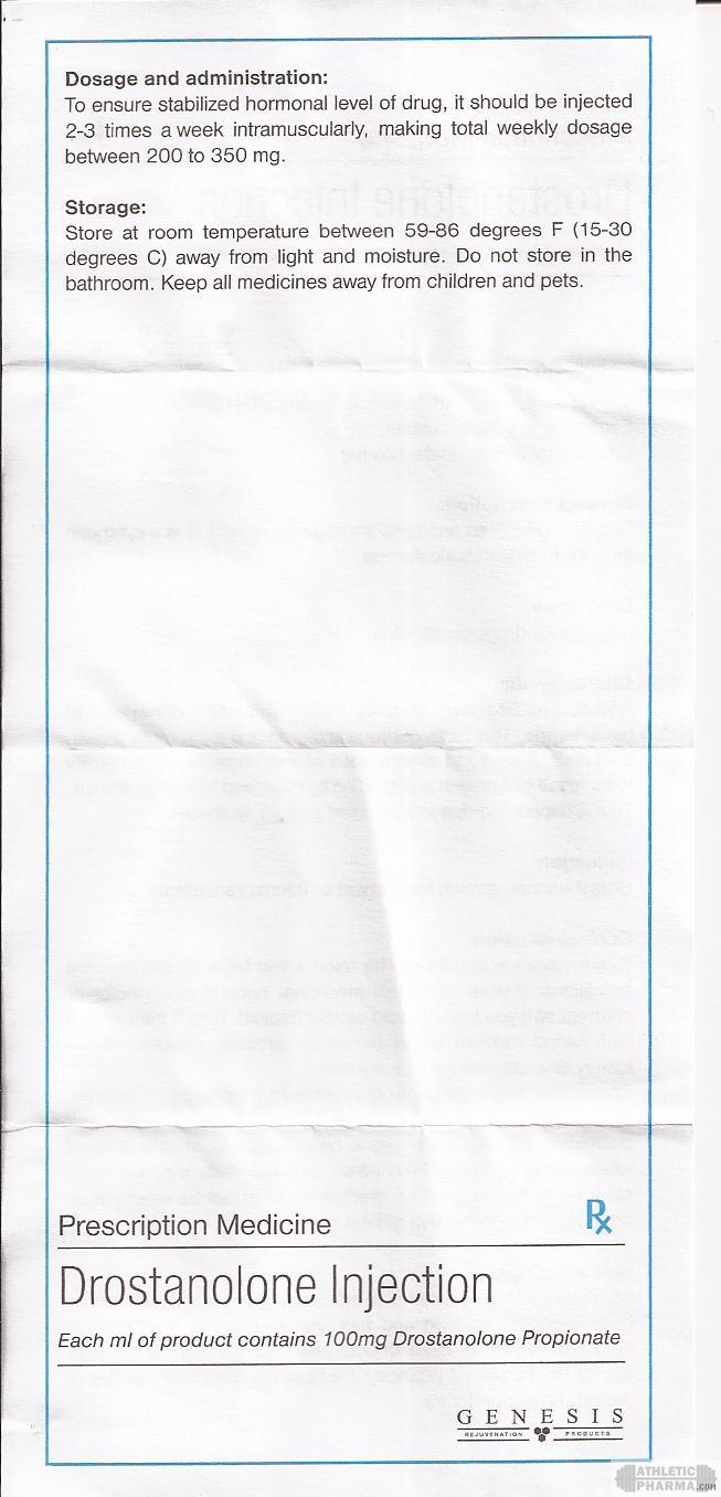 Drostanolone Injection genesis инструкция-2 (вкладыш)