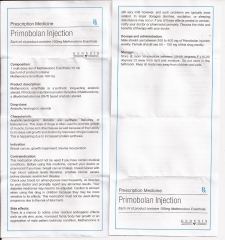 Primobolan Injection genesis инструкция (вкладыш)