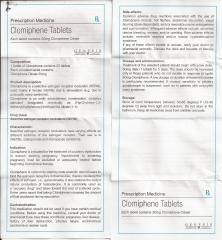 Clomiphene Tablets genesis инструкция (вкладыш)