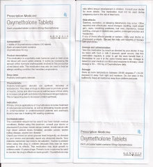 Oxymethalone Tablets genesis инструкция (вкладыш)
