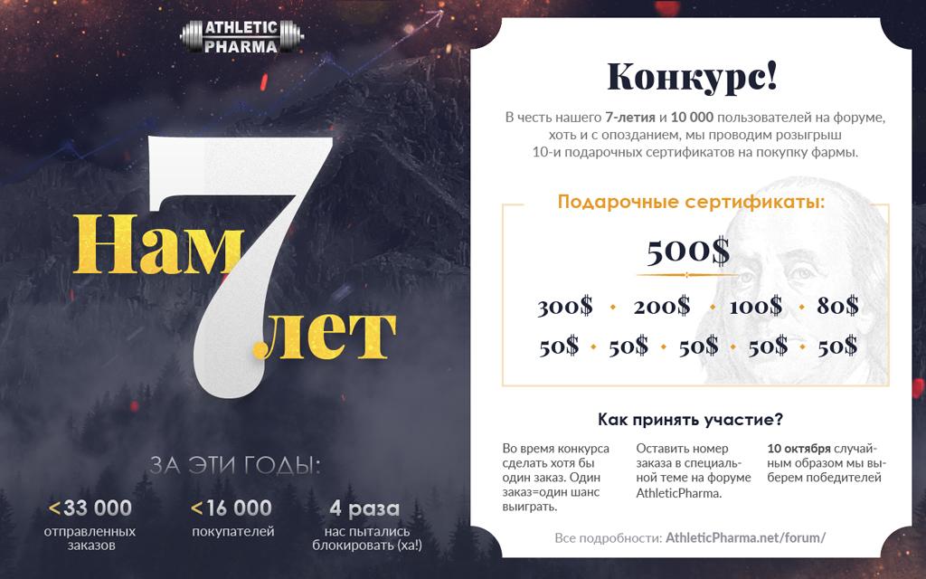 В честь нашего 7летия и 10.000 пользователей на Форуме проводим КОНКУРС (призовой фонд 1430$)