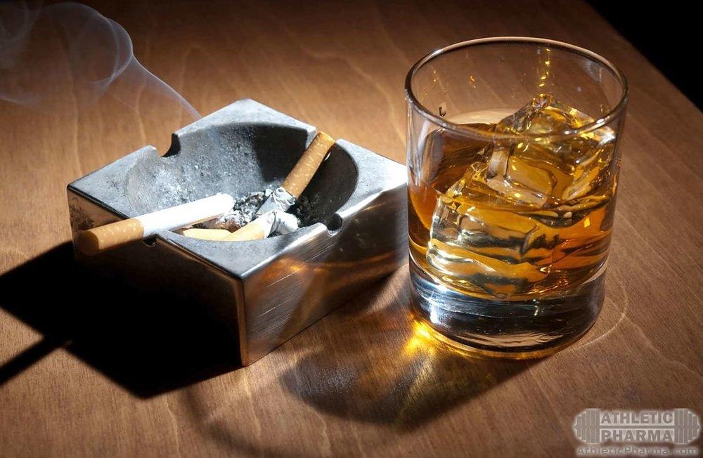 Вредные привычки - алкоголь и табакокурение