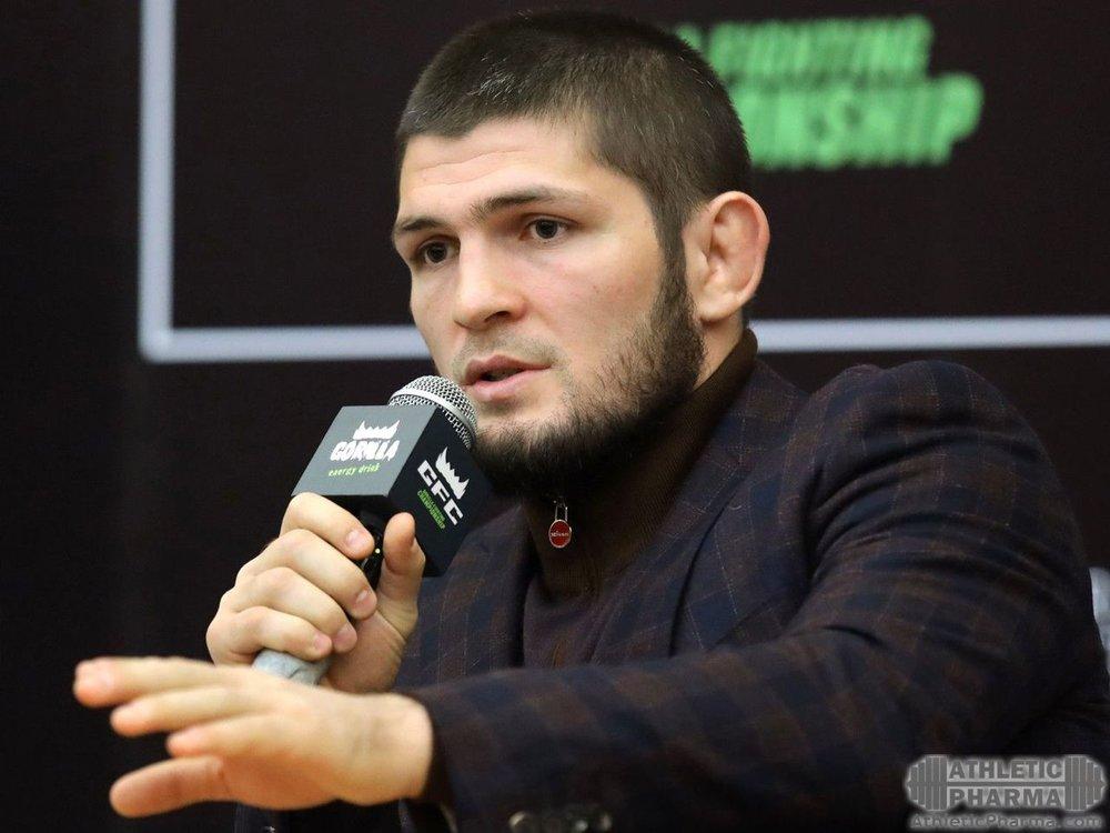 Хабиб дает интервью