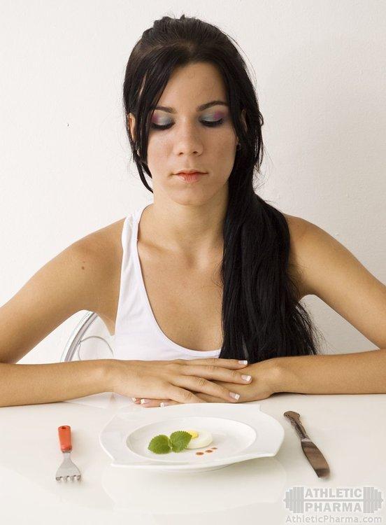 Женщина на строгой диете